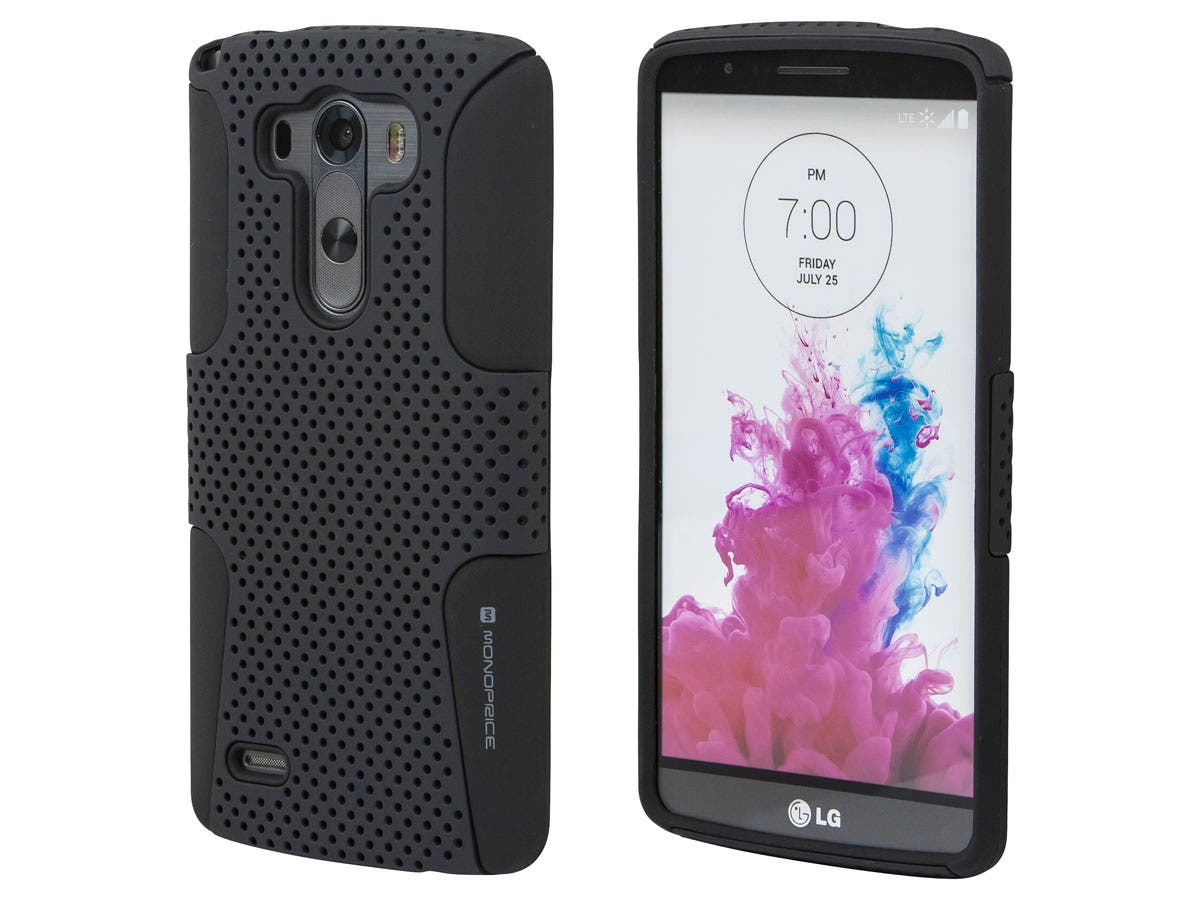 Dual Guard Dot Protective Case for LG G3, Black-Large-Image-1