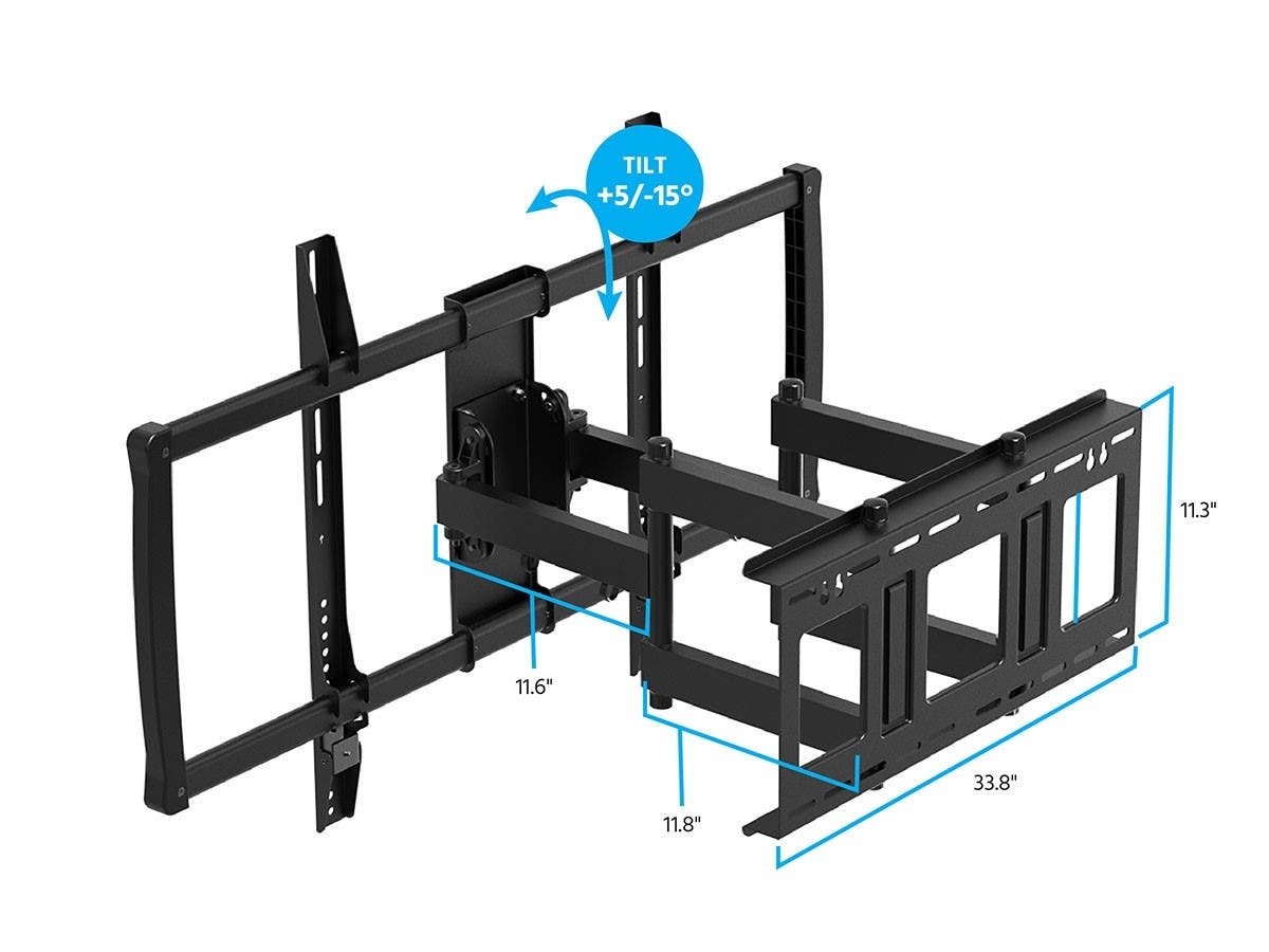 Monoprice Stable Series Full-Motion Articulating TV Wall