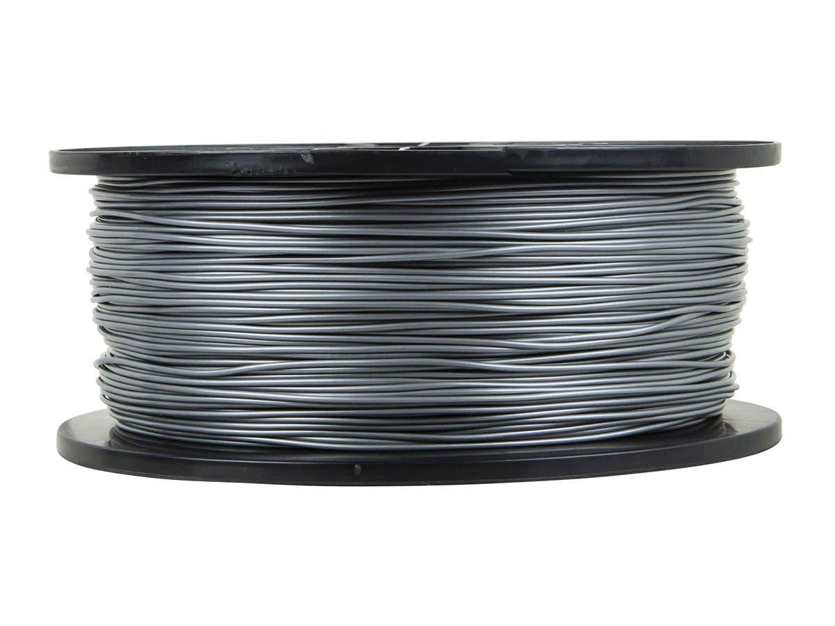 Monoprice Premium 3D Printer Filament ABS 1.75MM 1kg/spool, Silver-Large-Image-1