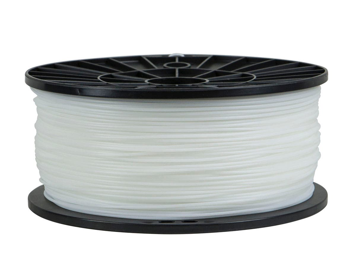 Premium 3D Printer Filament Flexible 1.75MM 1kg/spool, White-Large-Image-1