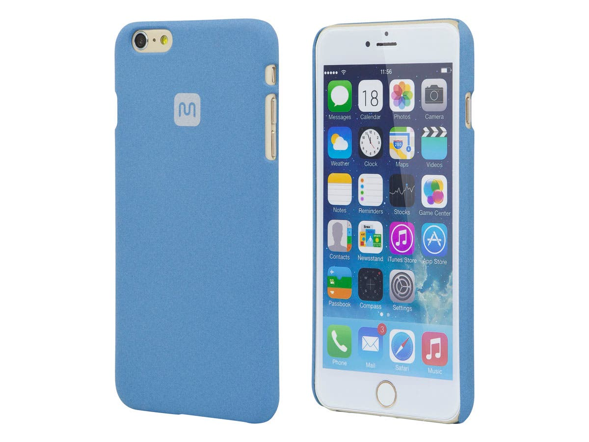 PC Case with Soft Sand Finish for 5.5-inch iPhone 6 Plus and 6s Plus, Azurite Blue