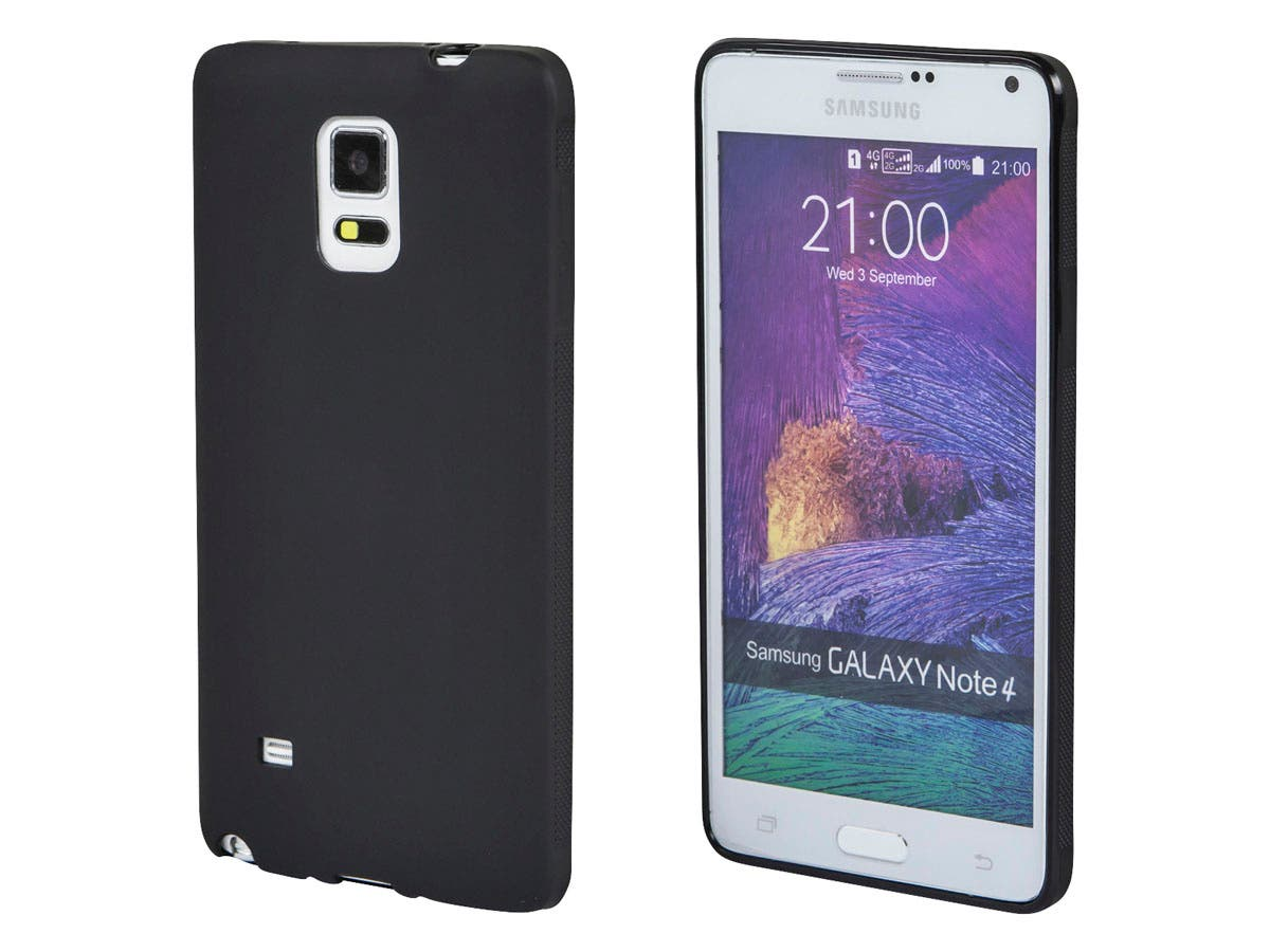 TPU Case for Samsung Galaxy Note 4, Black-Large-Image-1