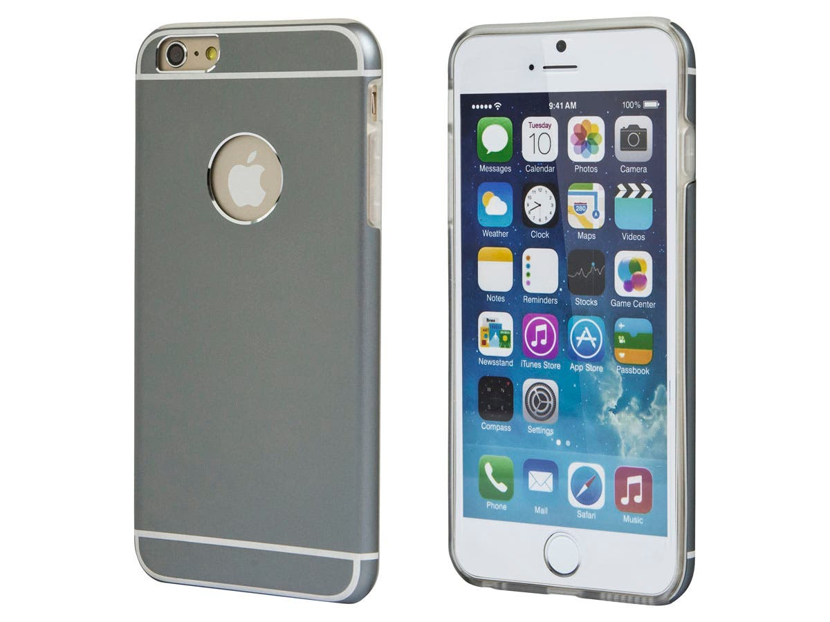Metal Alloy Protective Case for 5.5-inch iPhone 6 Plus and 6s Plus, Gray