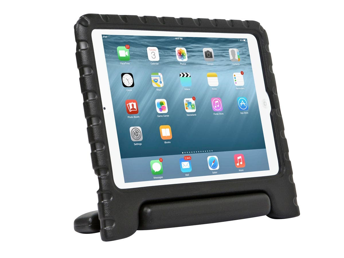 Monoprice Kidz Cover and Stand for iPad Air 2, Black-Large-Image-1