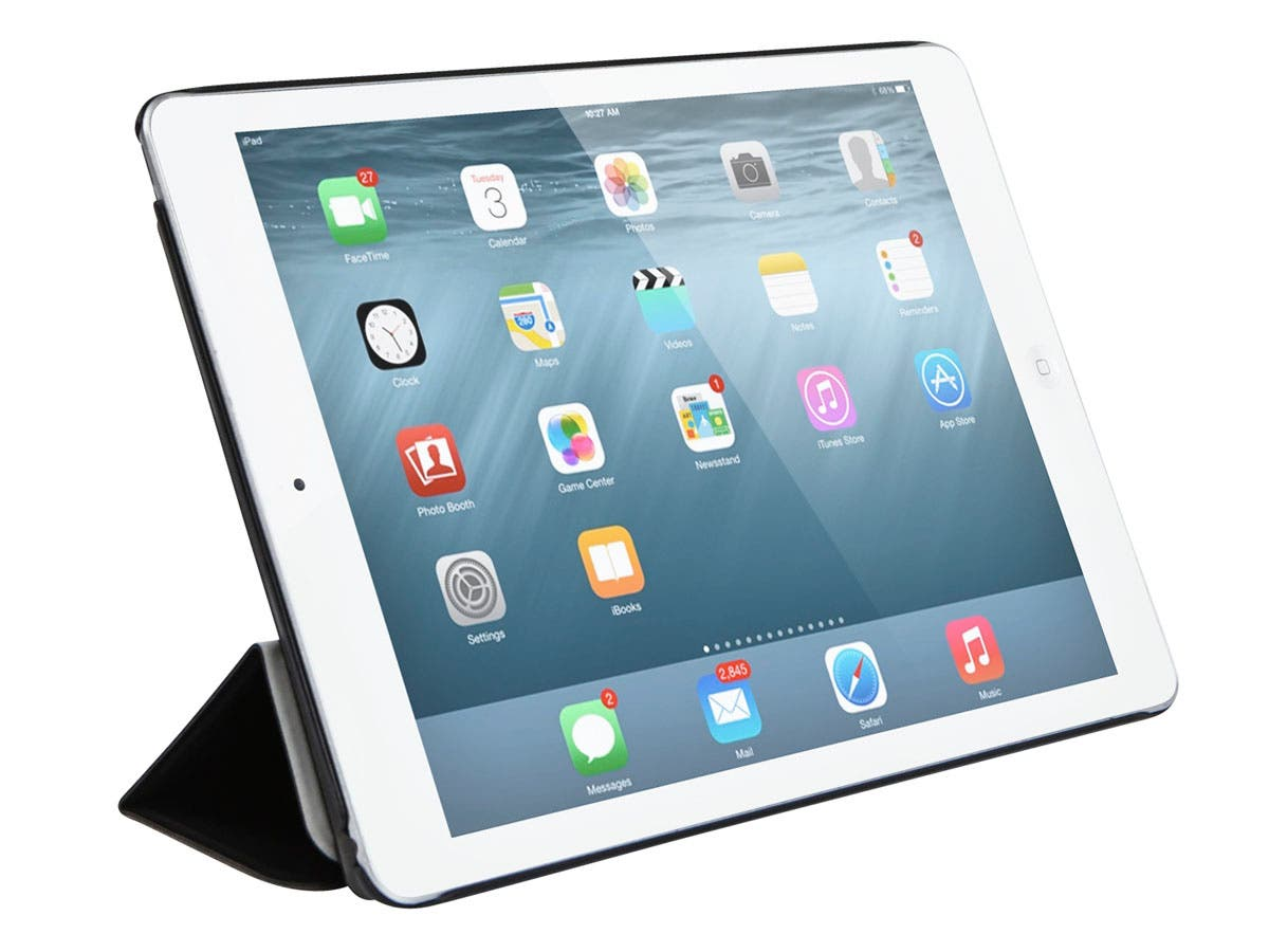 Synthetic Leather Stand/Cover with Magnetic Latch for iPad Air 2, Black