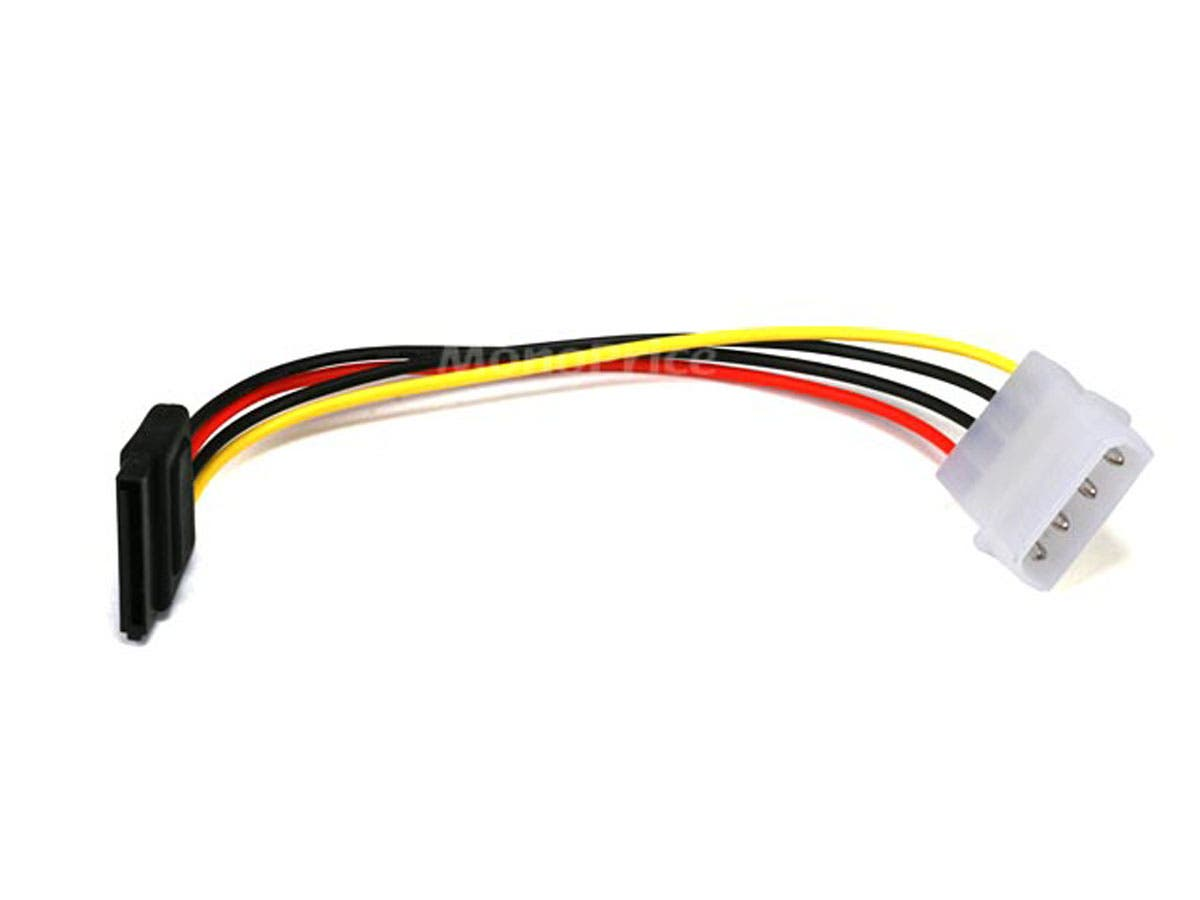 6 in SATA 15-pin Female to Molex 4-pin Male Power Adapter