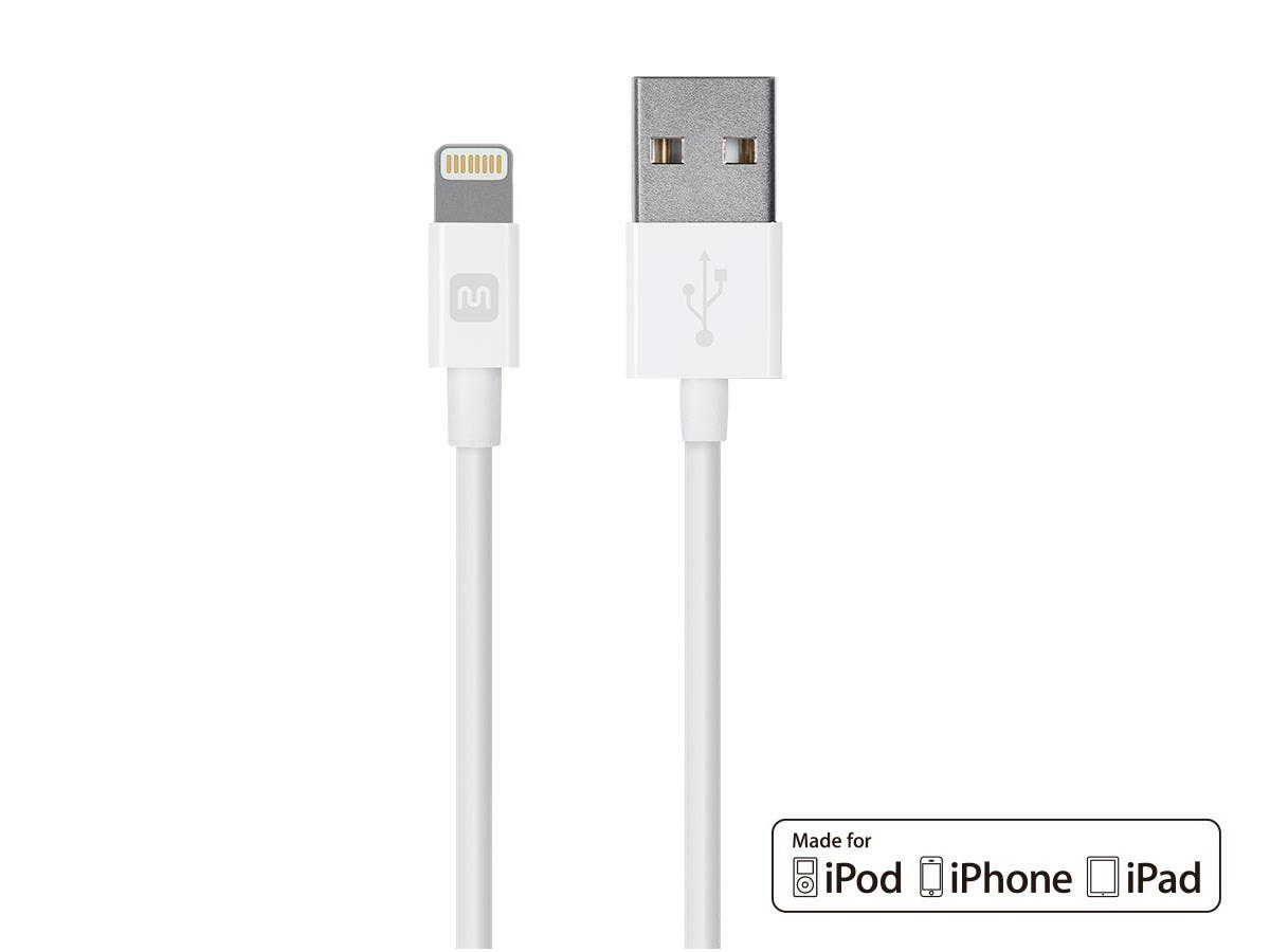 Select Series Apple MFi Certified Lightning to USB Charge & Sync Cable, 4ft White