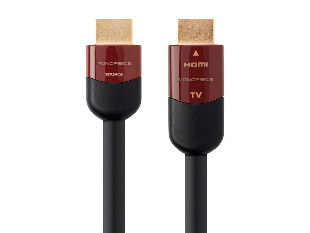 Monoprice Cabernet Ultra Series Active High Speed HDMI Cable - 4K @ 60Hz, 18Gbps, 24AWG, YUV 4:2:0, CL2, 50ft, Black-Large-Image-1