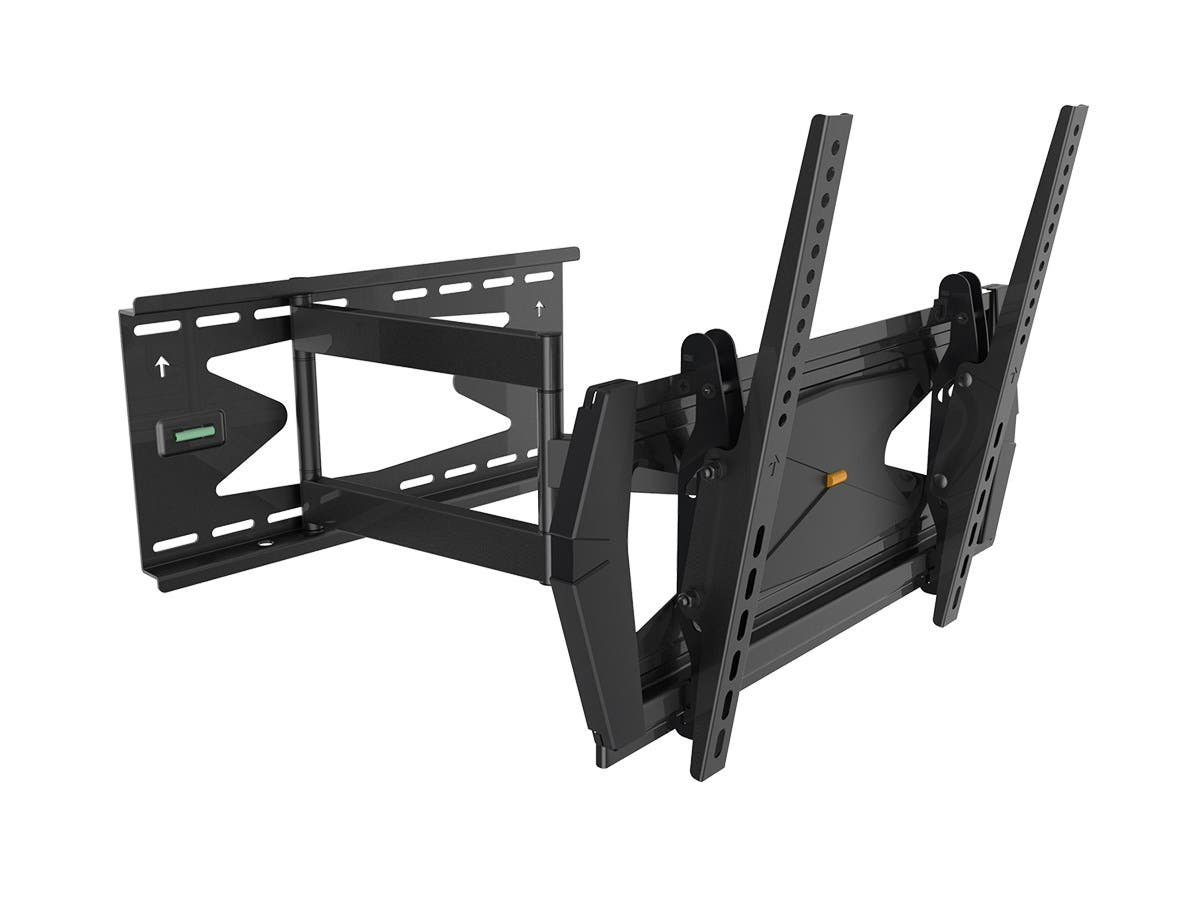 Monoprice Full-Motion Articulating TV Wall Mount Bracket TVs 32in to 55in, Max Weight 99lbs, Extends 3.0in to 21.6in, VESA Up to 400x400, Rotates , Security Brackets, Concrete & Brick, UL Certified-Large-Image-1