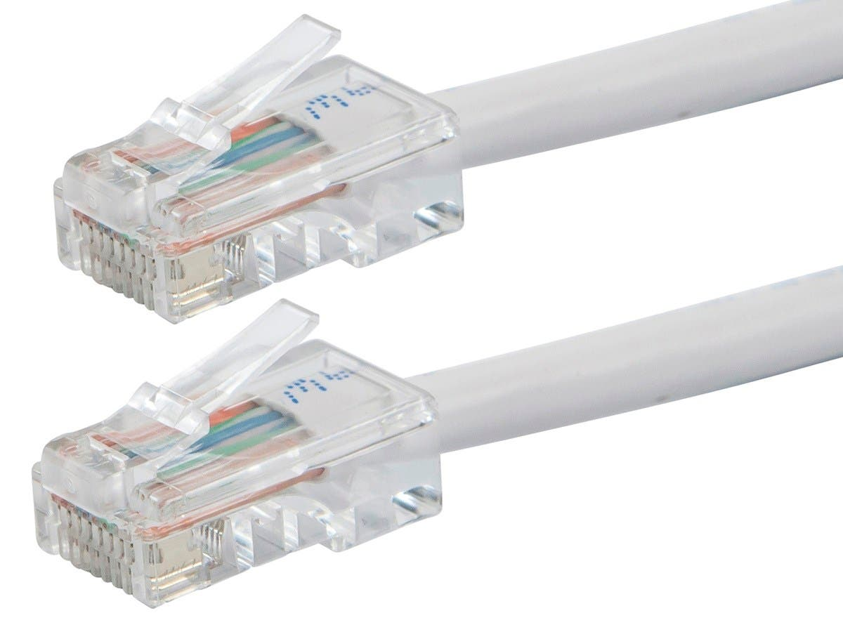 ZEROboot Series Cat5e 24AWG UTP Ethernet Network Patch Cable, 2ft White