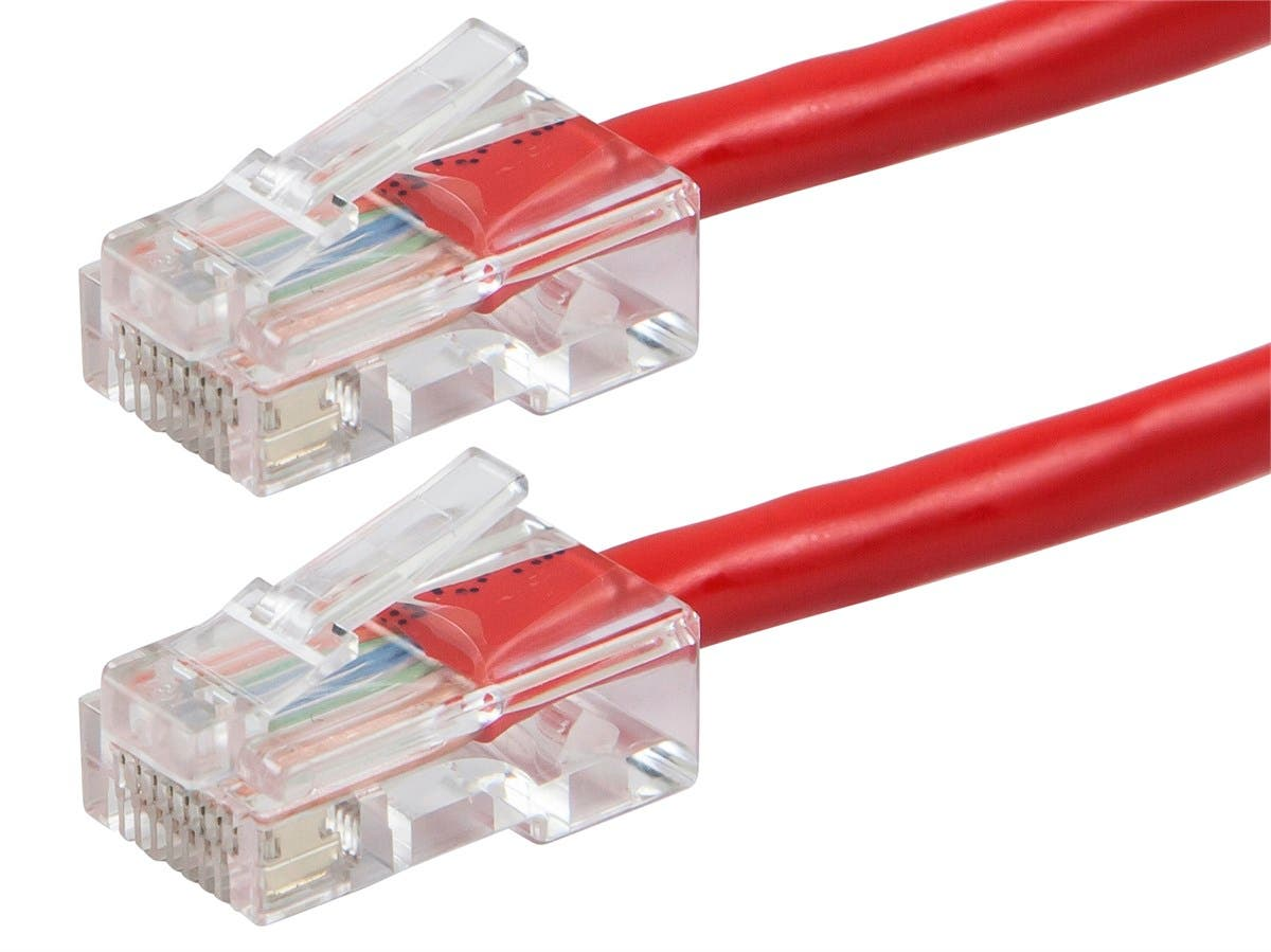 ZEROboot Series Cat5e 24AWG UTP Ethernet Network Patch Cable, 10ft Red