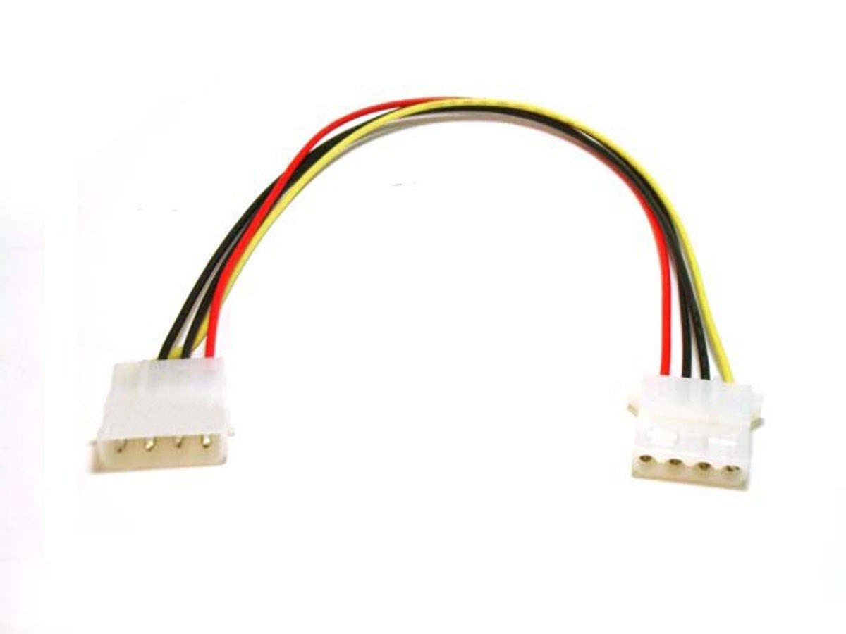 Molex Internal DC Power Extension Cable, 1x 5.25 in Male to 1x 5.25 in Female, 12 in