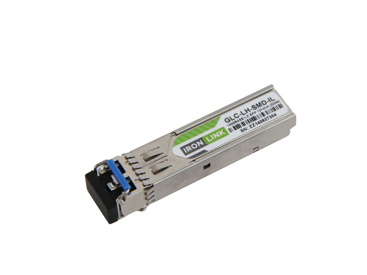 Monoprice Ironlink Cisco GLC-LH-SMD Compatible 1000Base-LH SFP DOM LC 1310nm 10km (mini-GBIC) Module-Large-Image-1