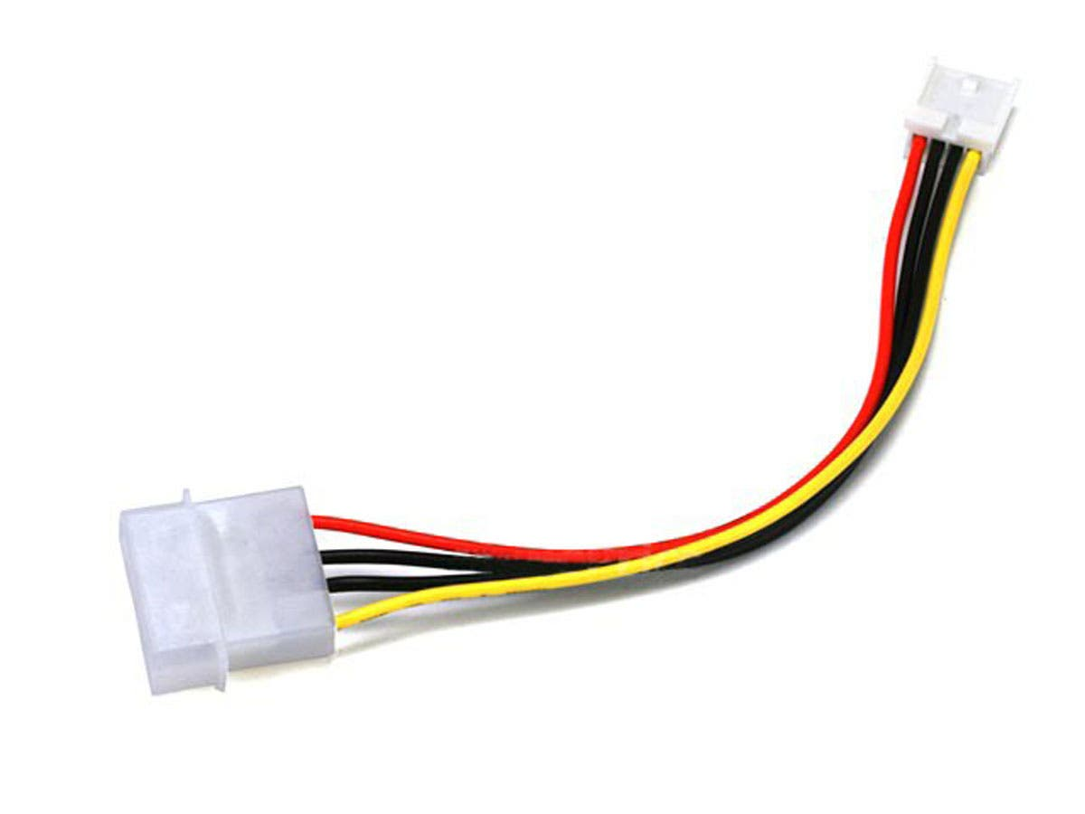 Monoprice Molex Internal DC Power Cable, 1x 5.25in Male to 1x 3.5in Female, 6in-Large-Image-1