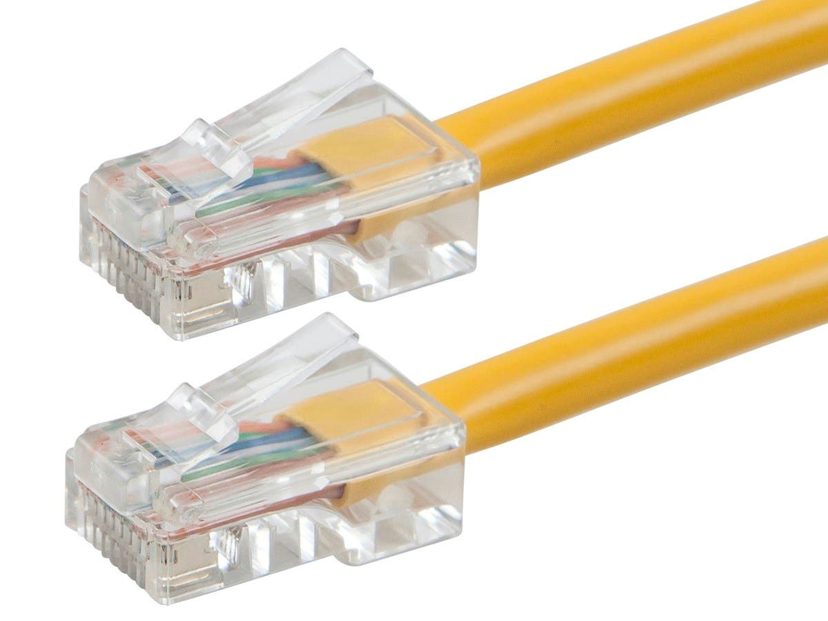ZEROboot Series Cat5e 24AWG UTP Ethernet Network Patch Cable, 75ft Yellow