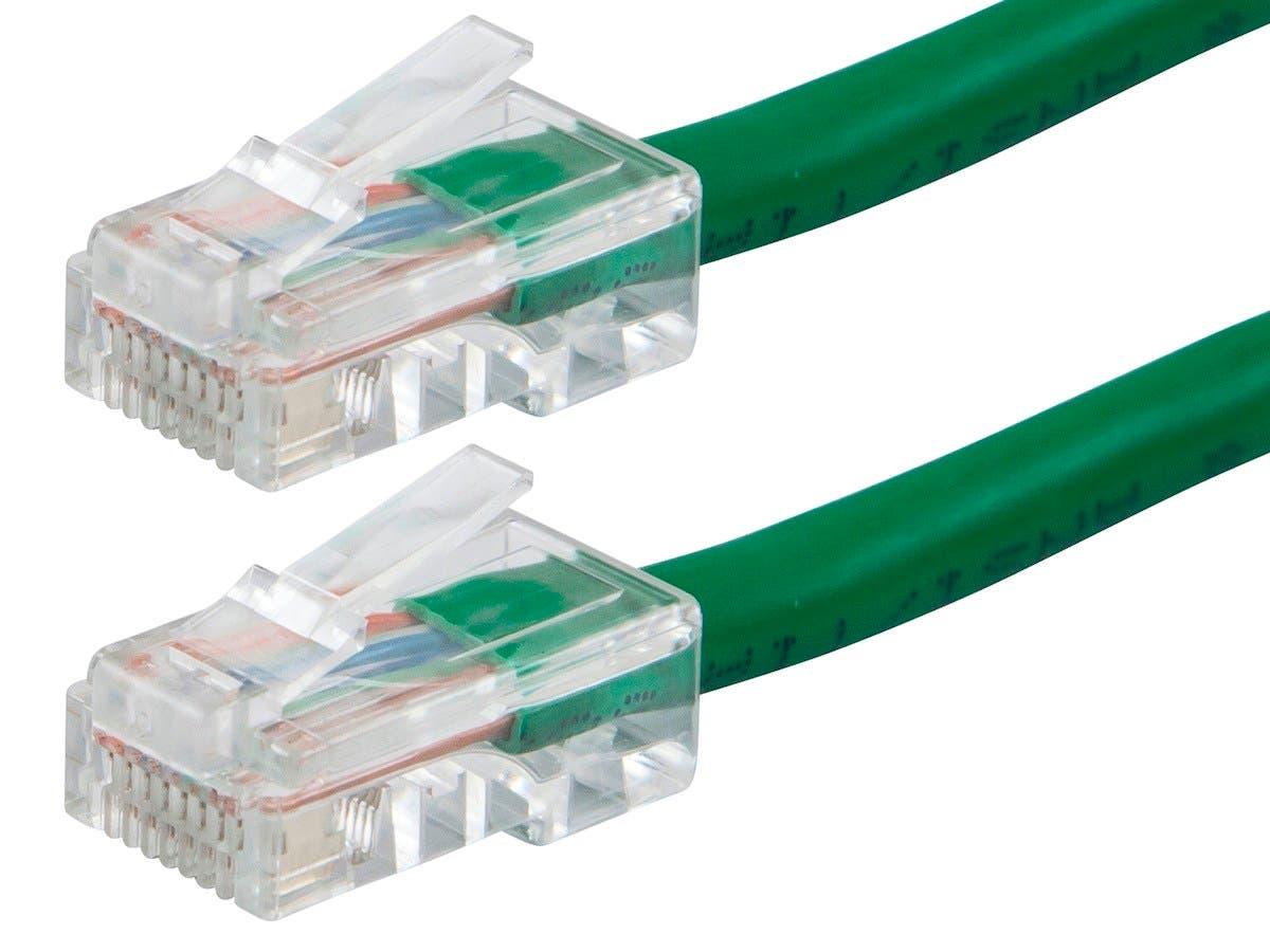 ZEROboot Series Cat6 24AWG UTP Ethernet Network Patch Cable, 2ft Green