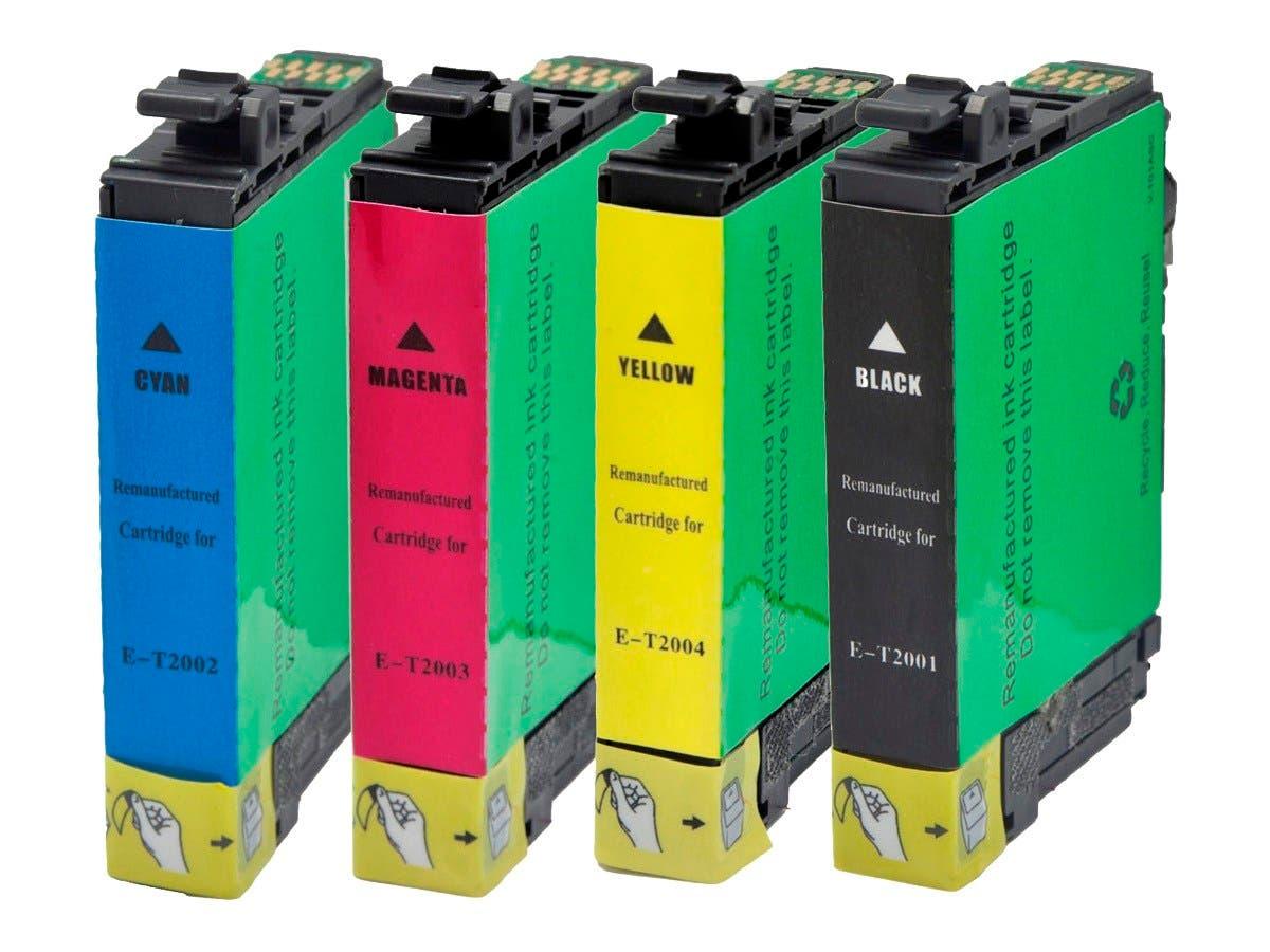 MPI Remanufactured Epson T200 Bundle - Cyan, Magenta, Yellow, Black-Large-Image-1