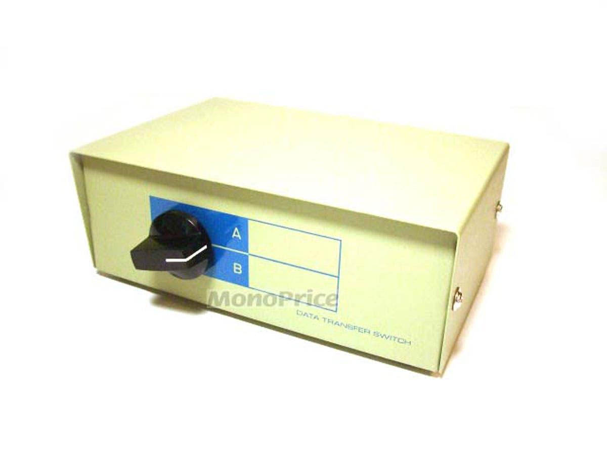 2 Way DB9 Data Switch Box, AB=Male