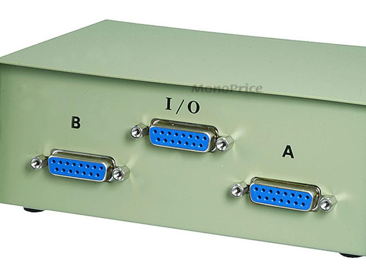 Switch DB15 AB 2 Way Manual Switch Box  1347