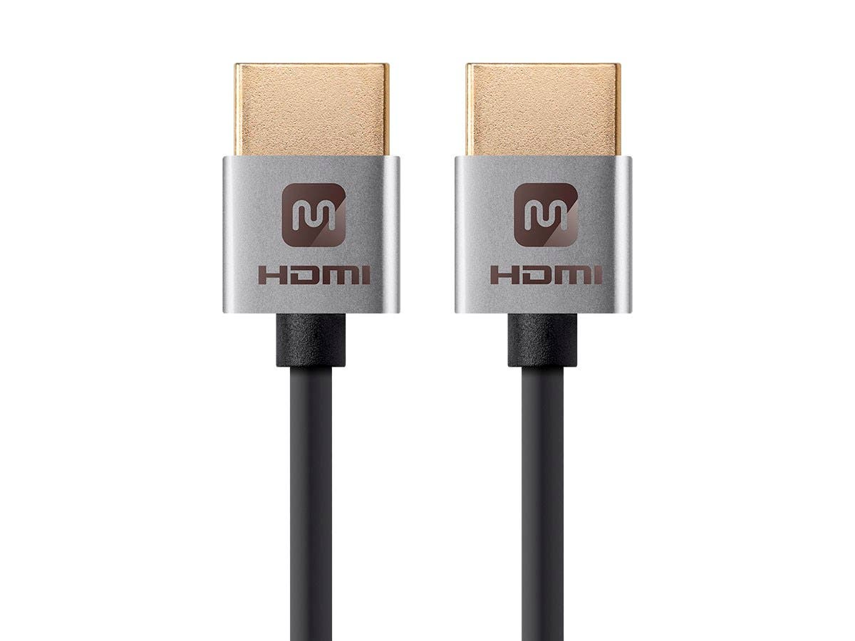 Monoprice 4K Slim High Speed HDMI Cable 0.5ft - 18Gbps Silver - main image