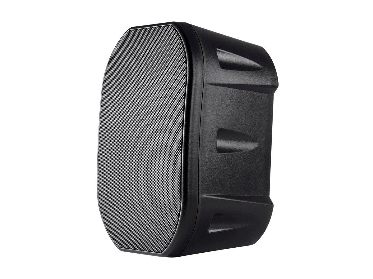 6.5-inch Weatherproof 2-Way Speakers with Wall Mount Bracket (Pair Black)