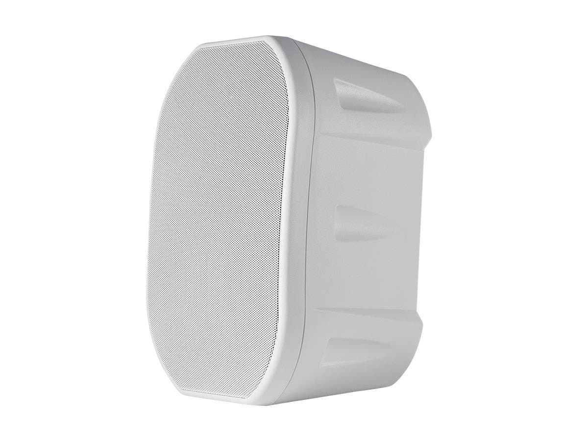 Monoprice 6.5-inch Weatherproof 2-Way Speakers with Wall Mount Bracket (Pair White)-Large-Image-1