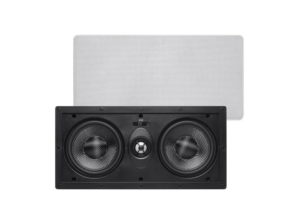Monoprice Alpha In-Wall Speaker Center Channel Dual 5.25in Carbon Fiber 2-way (single)-Large-Image-1