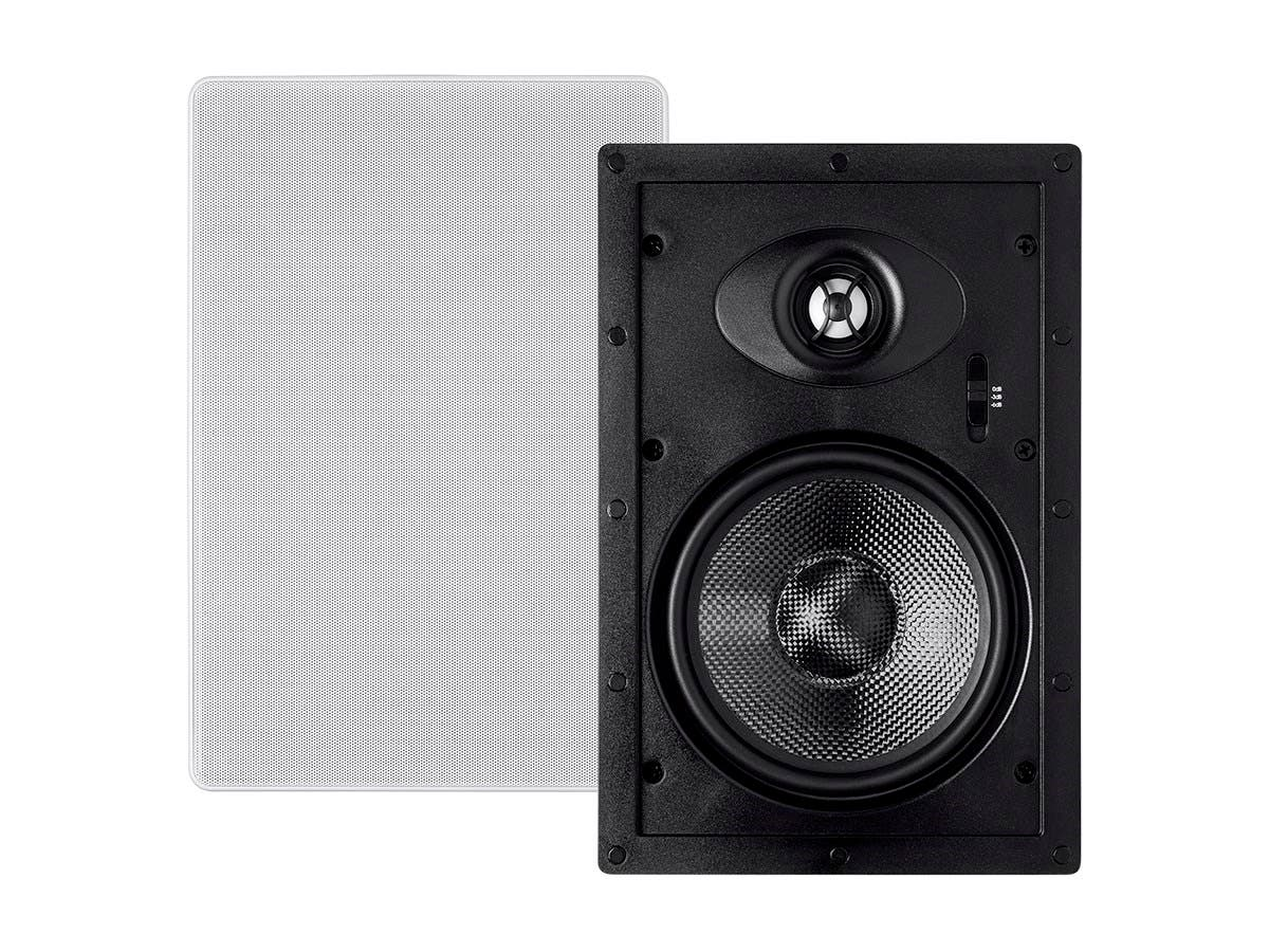 Monoprice Alpha In Wall Speakers 65in Carbon Fiber 2 Way Pair Wiring A Basement For