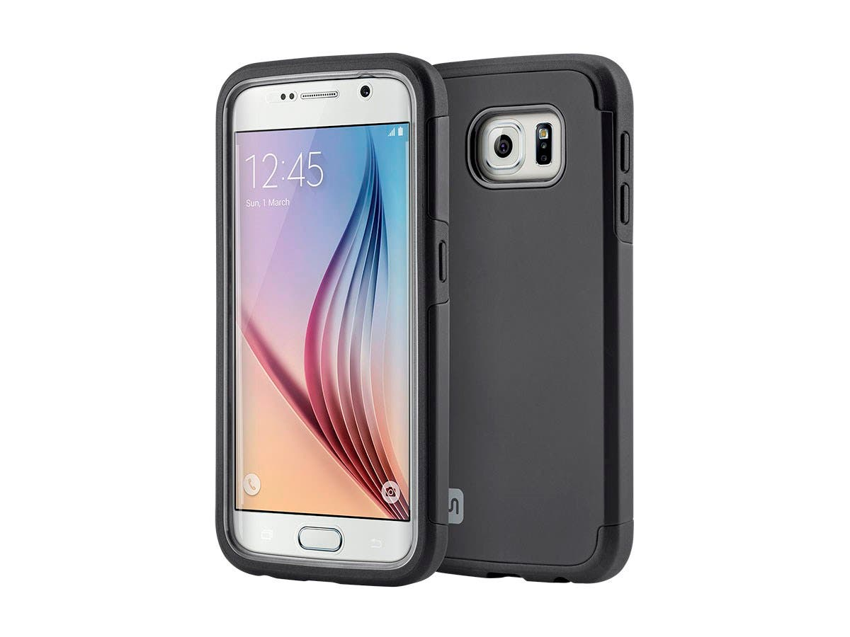 Monoprice Ultra Protector Series Phone Case for Samsung Galaxy S6, Black-Large-Image-1