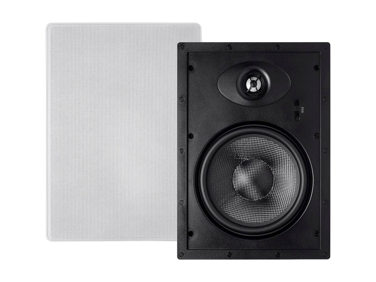 Alpha In-Wall Speakers 8-Inch Carbon Fiber 2-way (pair)