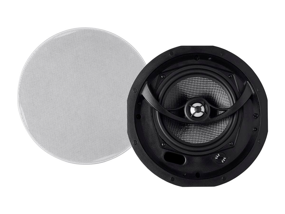 Monoprice Alpha Ceiling Speakers 6.5in Carbon Fiber 2-way (pair)-Large-Image-1