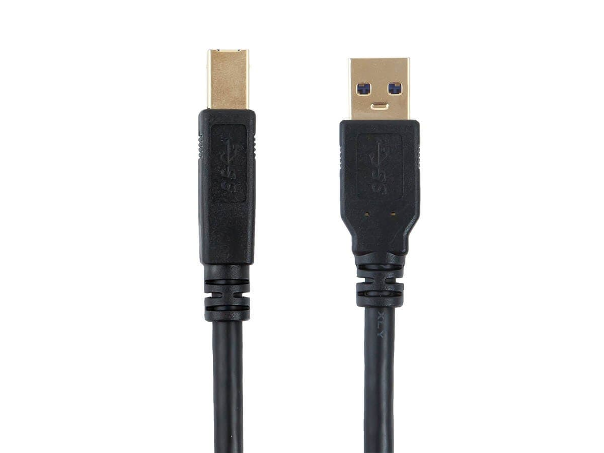 Select Series USB-A to USB-B 3.0 Cable - Black, 1.5ft-Large-Image-1