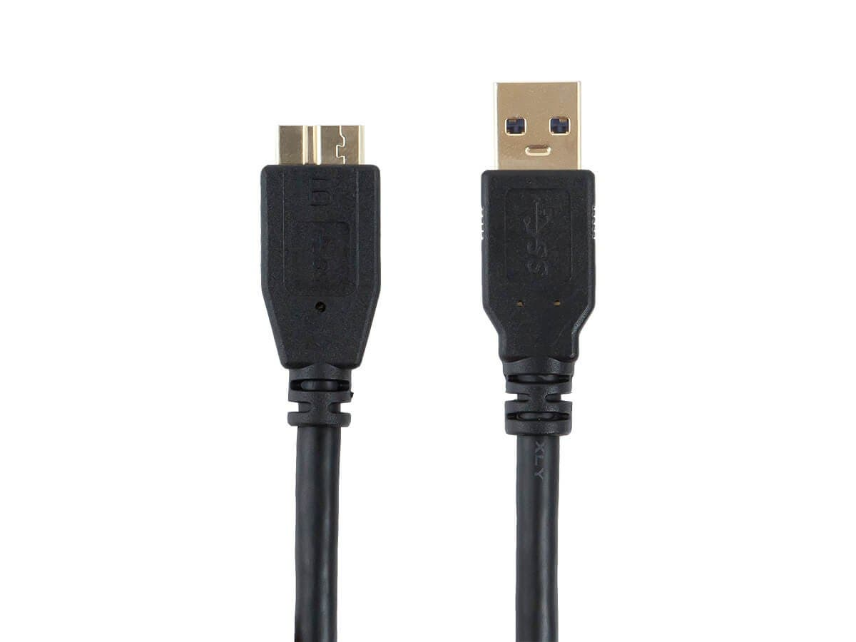 Monoprice Select Series USB 3.0 Type-A to Micro Type-B Cable, Black, 1.5ft-Large-Image-1