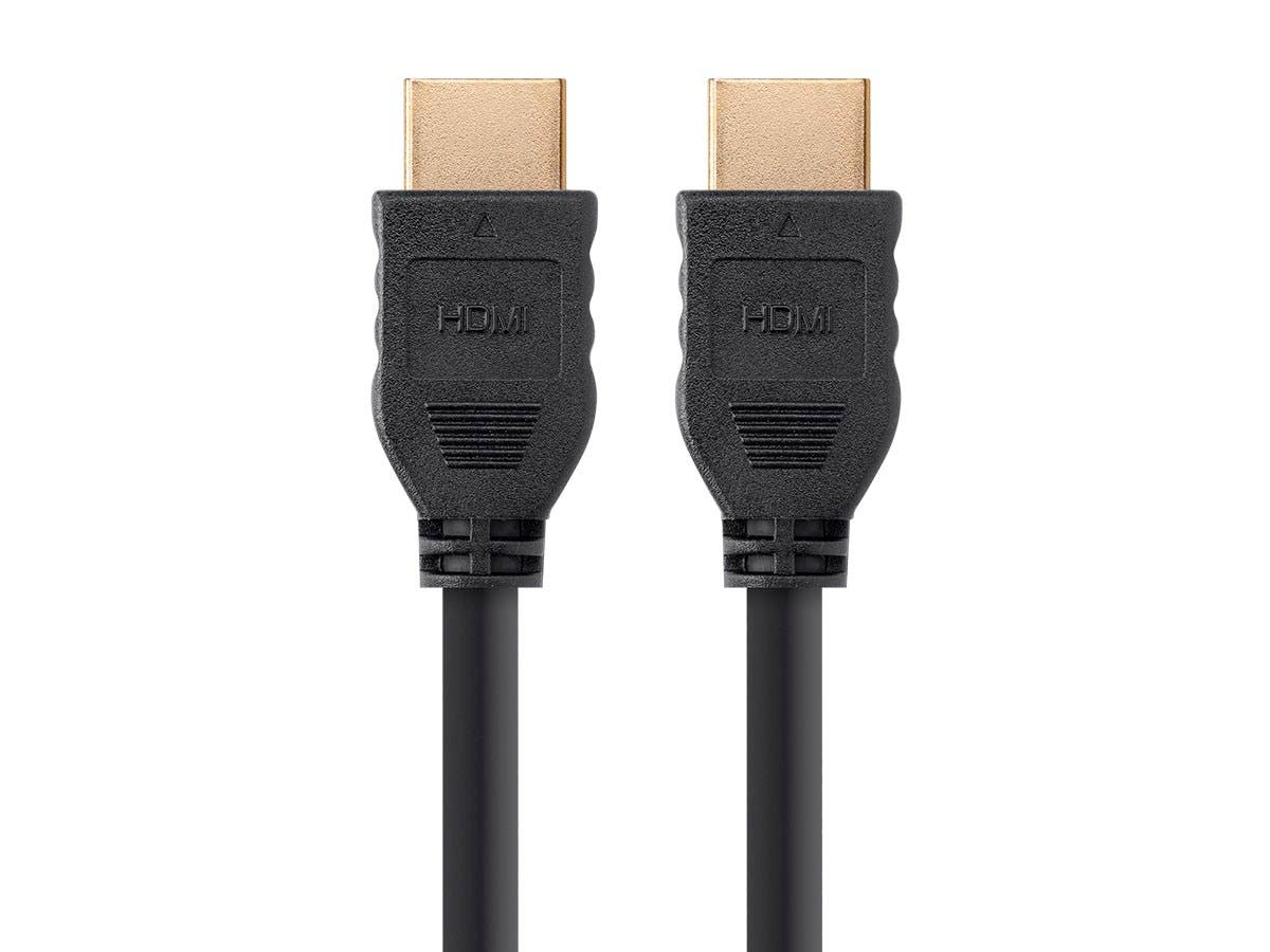 Monoprice Commercial Series High Speed HDMI Cable - 4K @ 60Hz, HDR, 18Gbps, YUV 4:4:4, 32AWG, CL2, 6ft, Black- No Logo-Large-Image-1