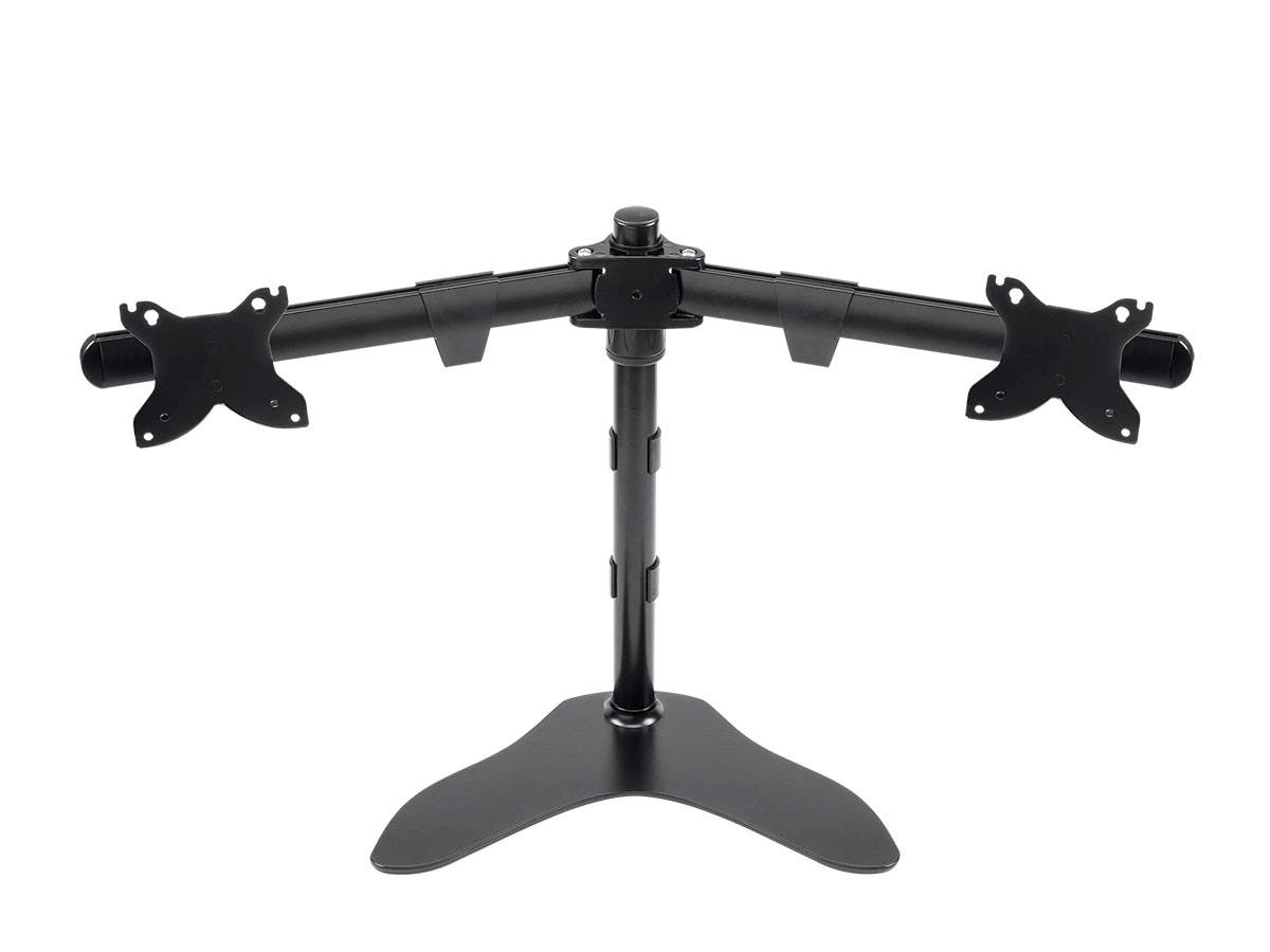 Dual Monitor Free Standing Desk Mount 15~30 in-Large-Image-1