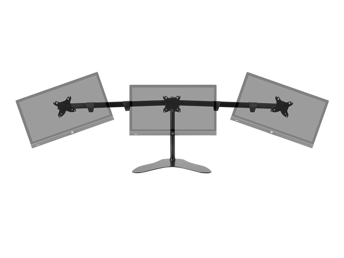 Mono Triple Monitor Free Standing Desk Mount 15 30 In Small Image