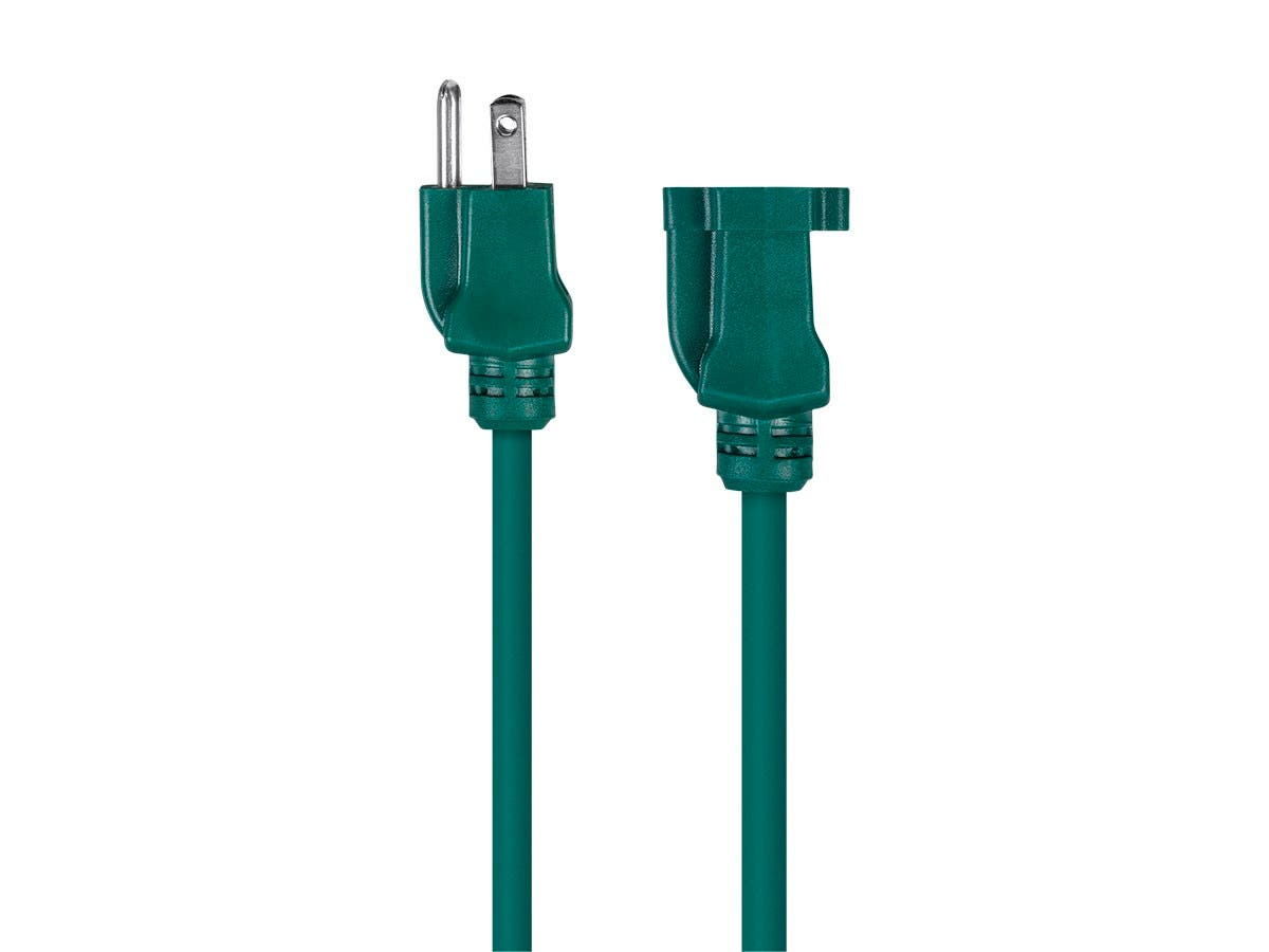 Green Power Cable : Monoprice ft awg green outdoor power extension cord