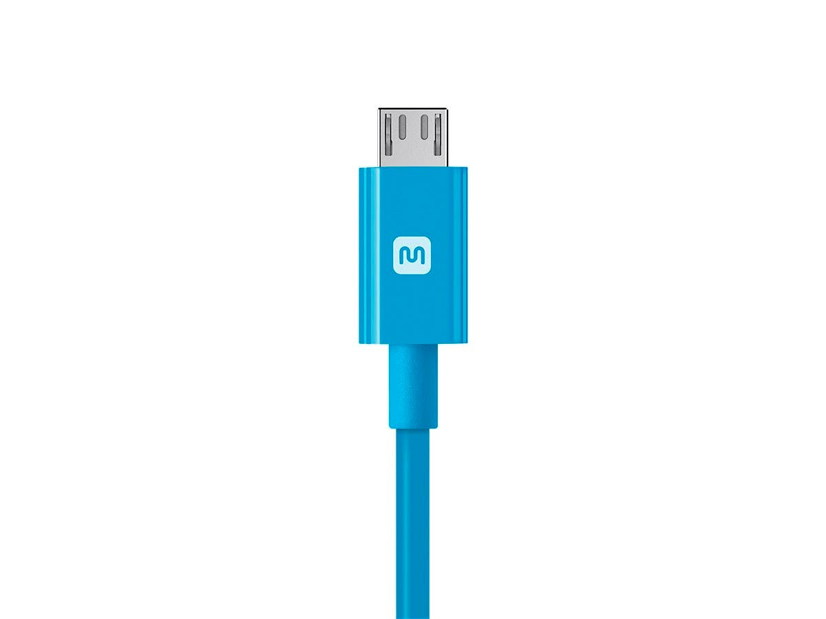 Monoprice Select Series USB-A to Micro B Cable, 2.4A, 22/30AWG, Blue ...