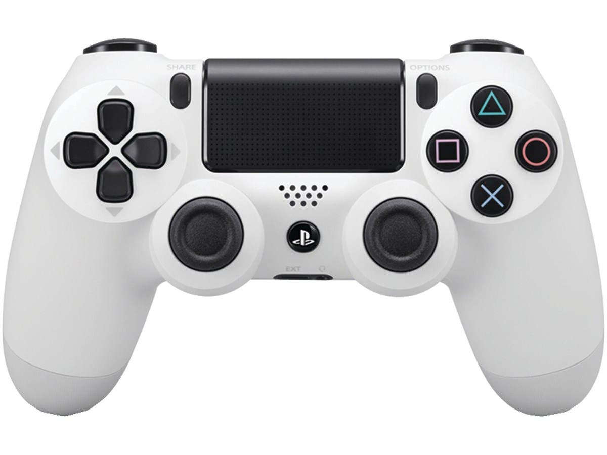 Sony DualShock 4 Wireless Controller for PlayStation 4 (PS4) - Glacier White