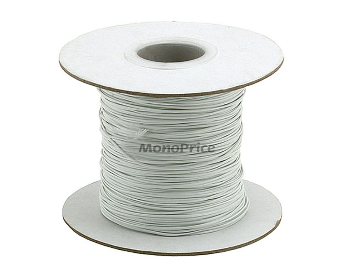 Monoprice Wire Cable Tie 290M/Reel - White - Monoprice.com