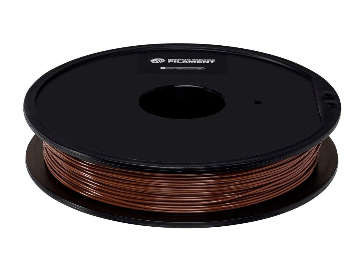 Monoprice Premium 3D Printer Filament PLA 1.75mm 0.5kg/spool, Brown-Large-Image-1