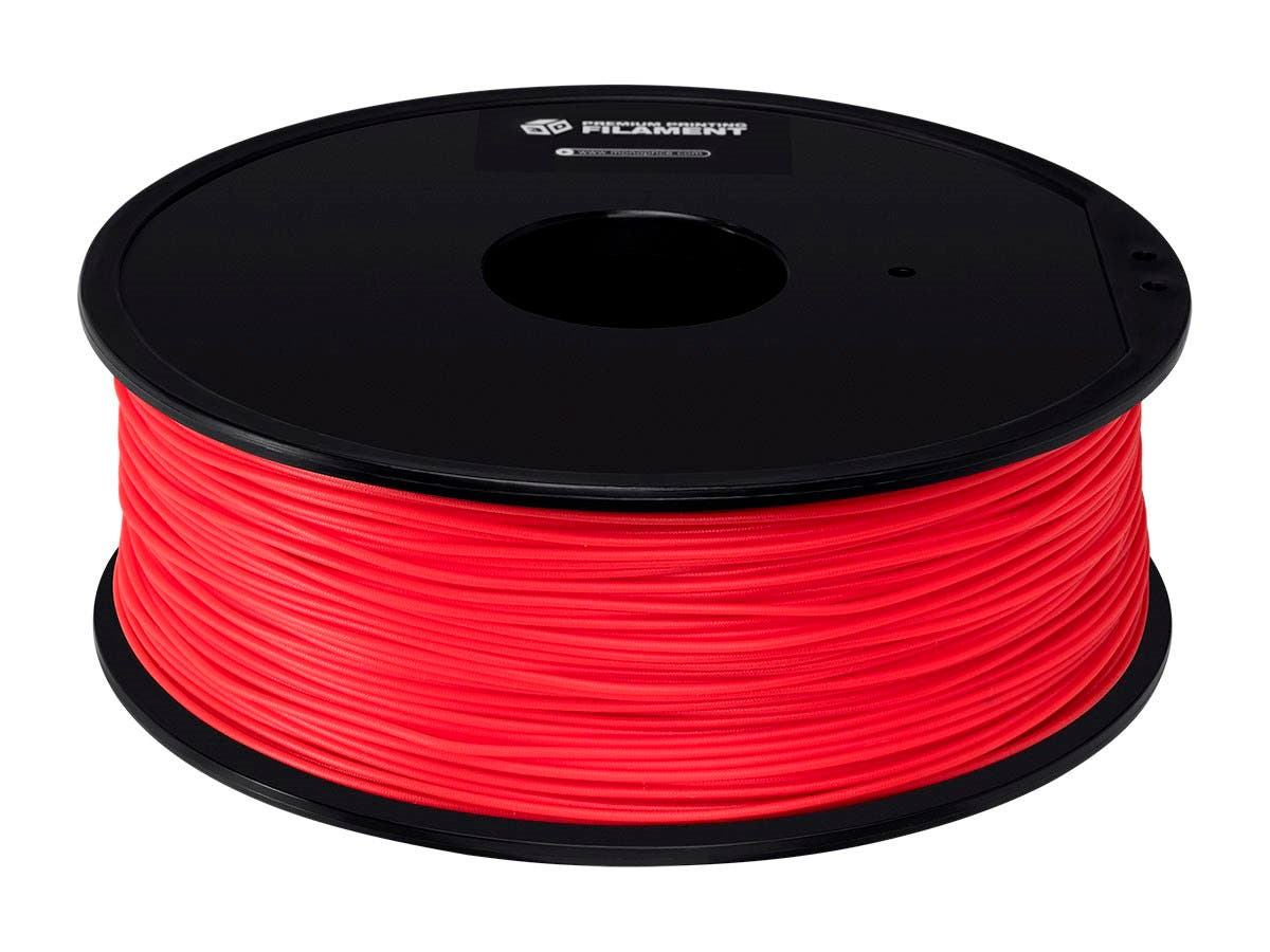 Monoprice Premium 3D Printer Filament PETG 1.75mm, 1kg/Spool, Red-Large-Image-1
