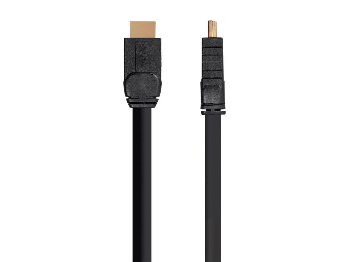 HOSS Active High Speed HDMI Cable - 4K @ 60Hz, HDR, 18Gbps, 24AWG, YUV 4:4:4, CL3, 25ft, Black