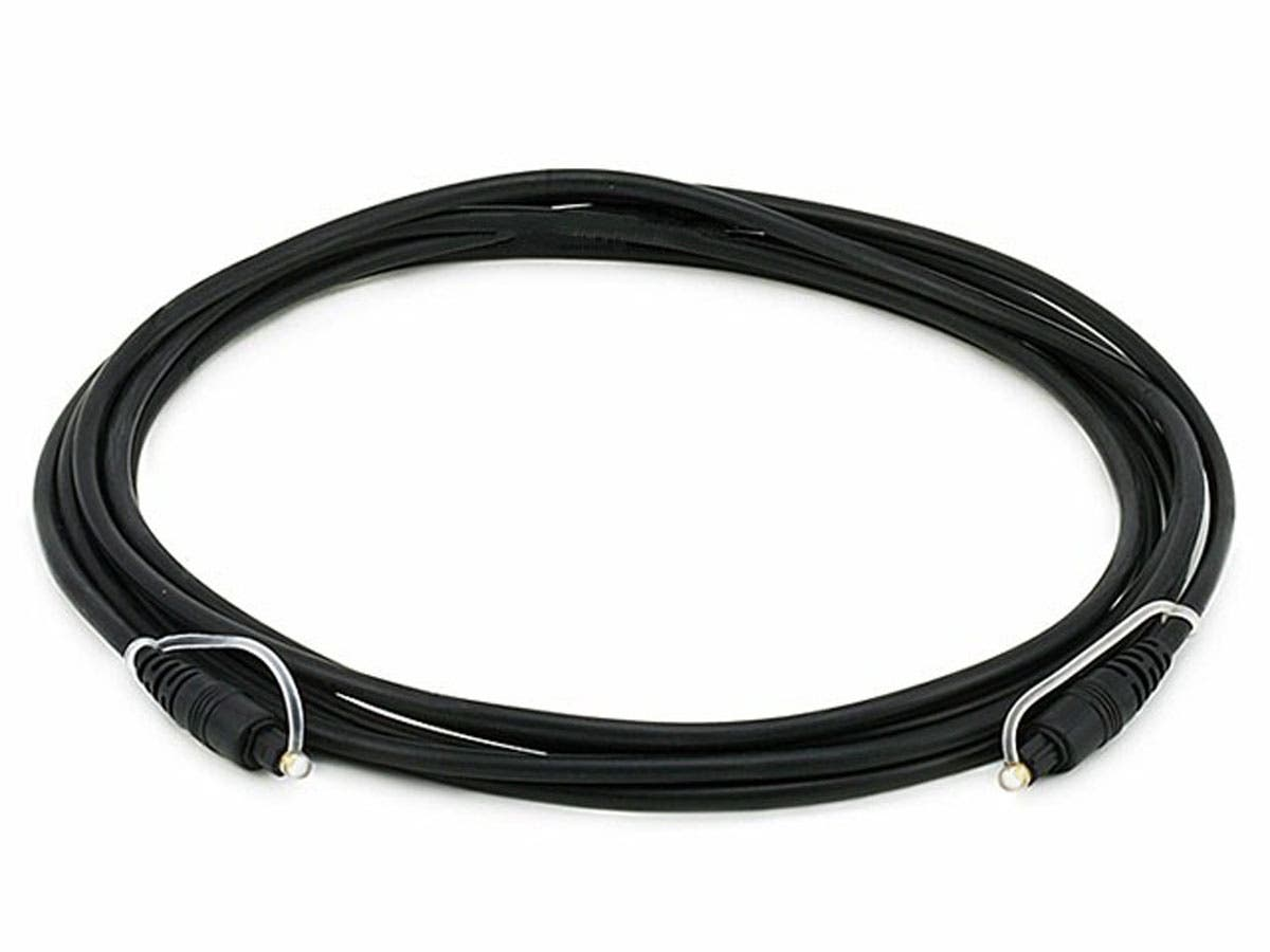 S/PDIF (Toslink) Digital Optical Audio Cable, 12ft