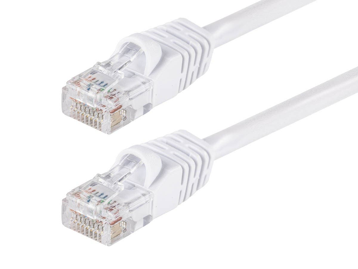 Cat5e 24AWG UTP Ethernet Network Patch Cable, 50ft White