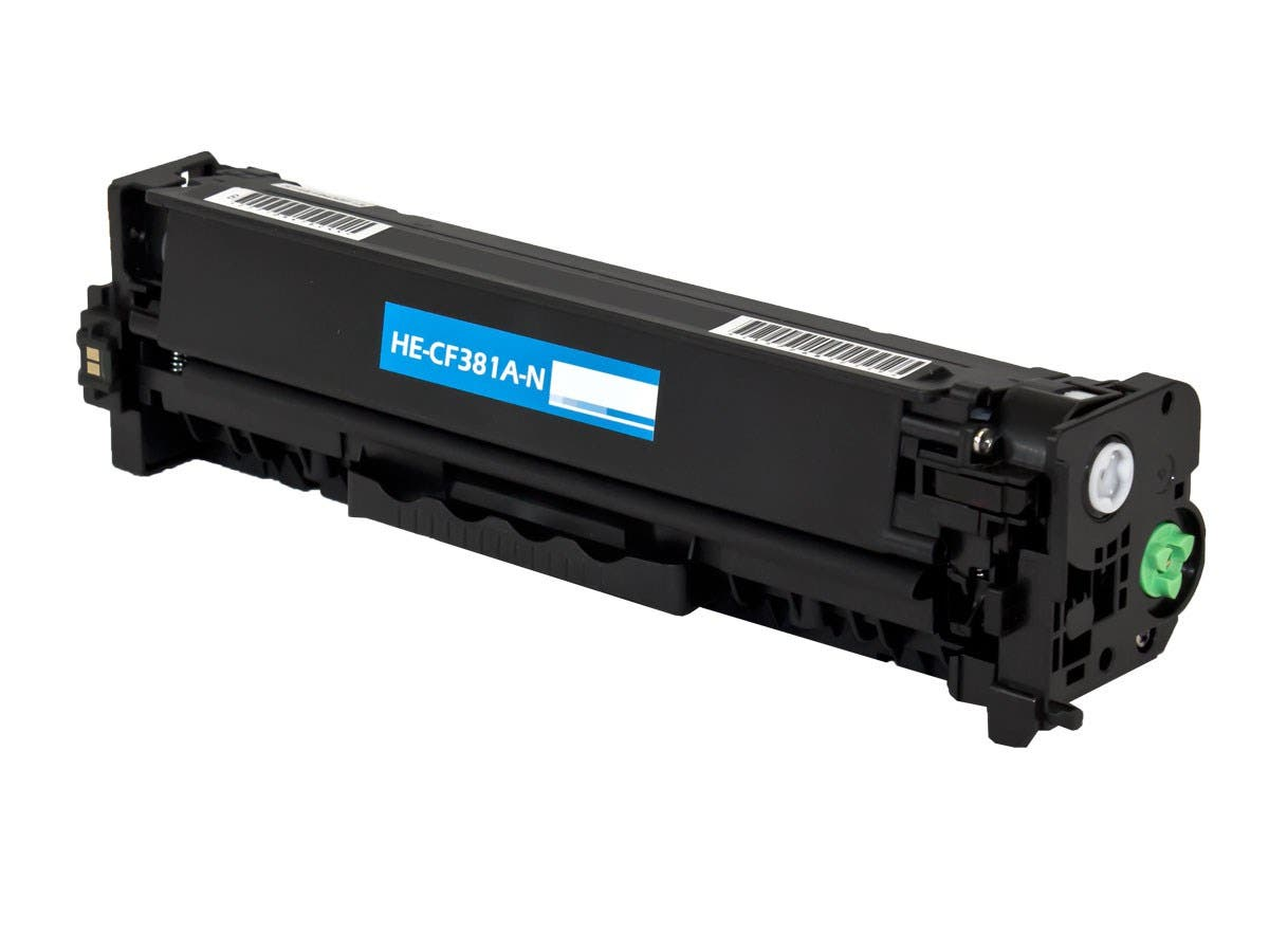 Monoprice Compatible HP CF381A Toner - Cyan-Large-Image-1