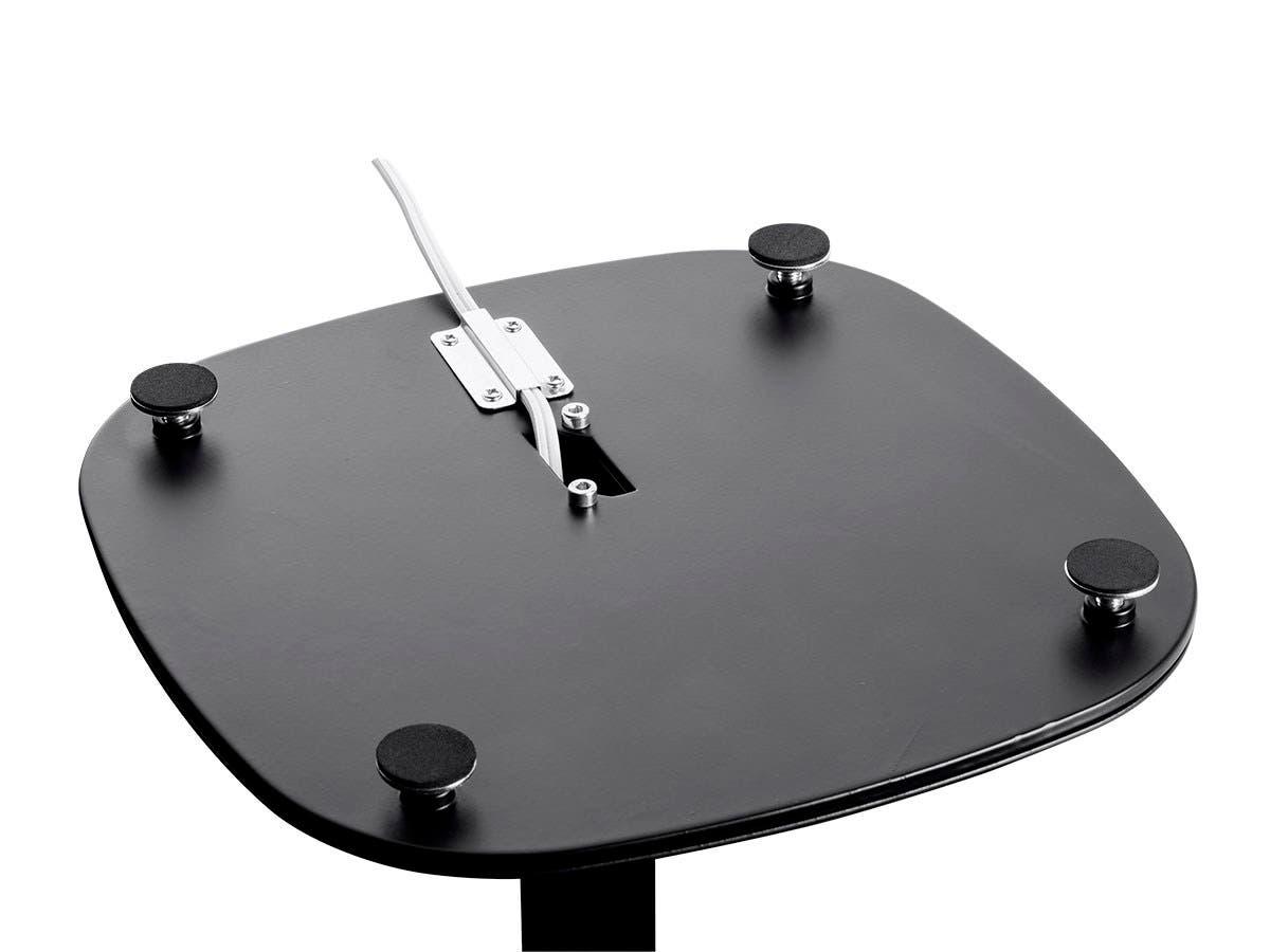 monoprice floor speaker stands for sonos play 1 black pair. Black Bedroom Furniture Sets. Home Design Ideas