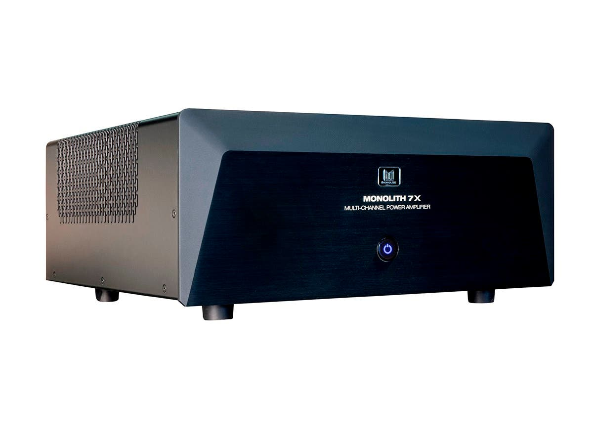 Monolith by Monoprice 7x200 Watts Per Channel Multi-Channel Home Theater  Power Amplifier with XLR
