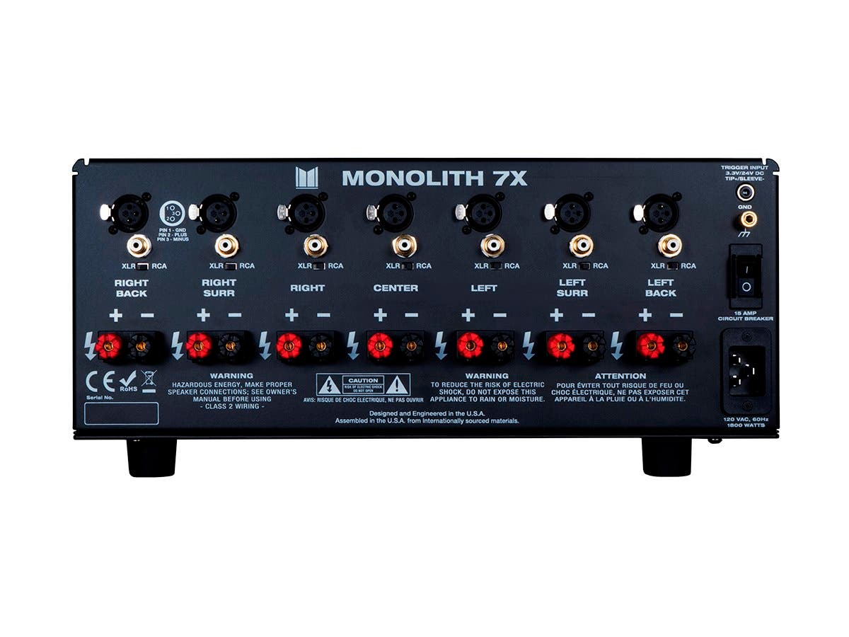 monolith 7x200 watts per channel multi channel home theater power amplifier. Black Bedroom Furniture Sets. Home Design Ideas