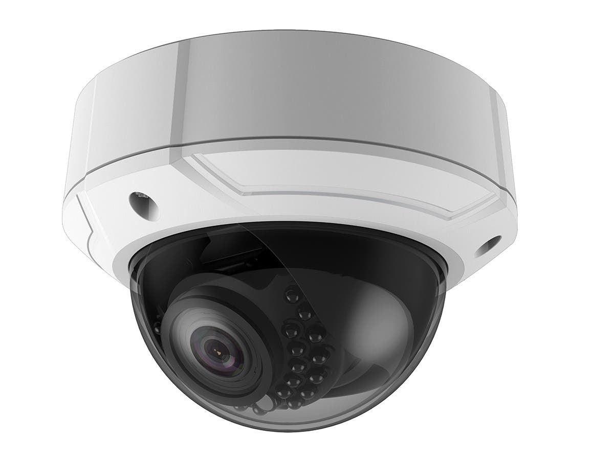 IP66 Rated Vandal Proof 2.8-12mm Vari-focal IR IP Dome Camera (3MP HD, 1/3 in CMOS, 24 Smart IR LEDs up to 100ft, DC12V/PoE, Built-in MicroSD)